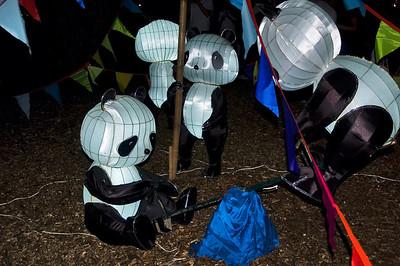 Panda bears Lantern Festival Albert Park Auckland New Zealand - 2 Mar 2007