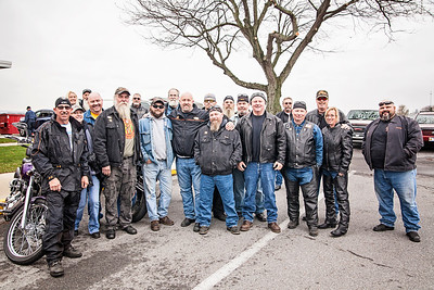Patriot photos by Roxanne Richardson Reading Motorcycle Club, Rolling Thunder, came out to show its support. The club has members who are former Marines and have known the Hoch family for years. Larry Hochís younger brother, Preston, was a member of the club. The club is a big supporter of the POW/MIA.