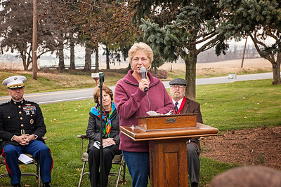 Judy Romig, L/CPL Larry D. Hoch's sister. Patriot photos by Roxanne Richardson