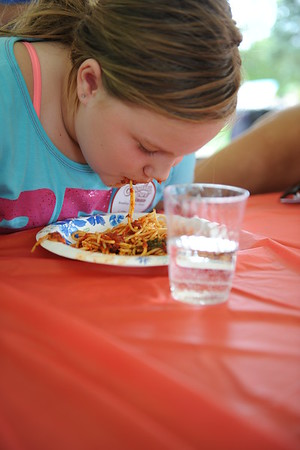 Last Fling 2016 - Naperville, Illinois - Family Fun Land - Spaghetti Eating Contest