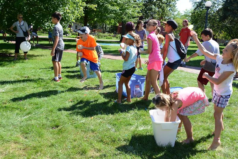Last Fling 2016 - Naperville, Illinois - Family Fun Land - Water Balloon Dodge