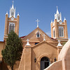 San Felipe de Neri church, Old Town Plaza, Albuquerque, NM.  Main structure built in 1793; towers added in 1861.