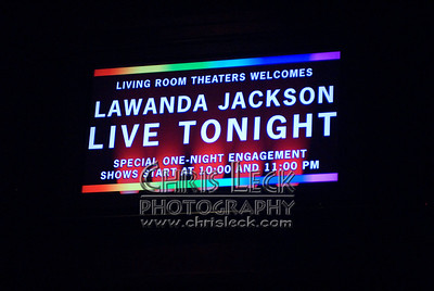Lawanda Jackson at Living Room Theaters in a benefit for Brother to Brother