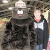 Gary Church/NEWS<br /> Mackenzie Kushma as Smokey Bear and Lila Jones, both from Mahoning Township, made an appearance yesterday at the Lawrence County Fair.