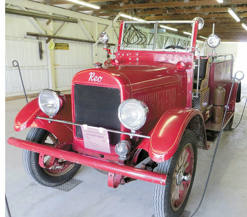 Mitchel Olszak/NEWS<br /> This REO firetruck is on display in the Antiques barn at the Lawrence County Fair.