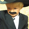 Debbie Wachter/NEWS<br /> Jacob Leckwart, 3, and members of his family wore black moustaches  in the calf-dress-up.