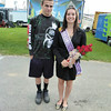 Debbie Wachter/NEWS<br /> Rebecca Jones of Slippery Rock Township was crowned queen of the Lawrence County Fair yesterday at the opening ceremony. She stands in the midway with her friend, Justin Mayberry of Hickory Township.