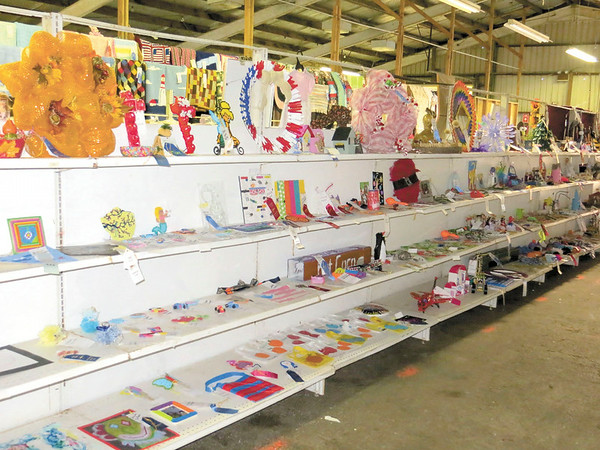 Mitchel Olszak/NEWS<br /> A look at some of the youth crafts on display at the Lawrence County Fair.