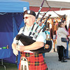After arriving at Laurel High School, ride participants marched across Route 108 and into the fairgrounds for the crusade. A bagpiper was one of those at the head of the procession. — Sam Luptak Jr.