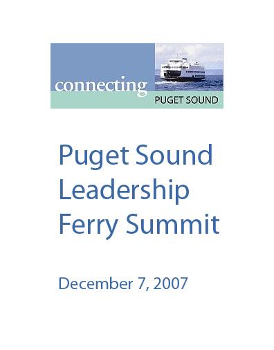 Kitsap, Puget Sound Leadership Ferry Summit