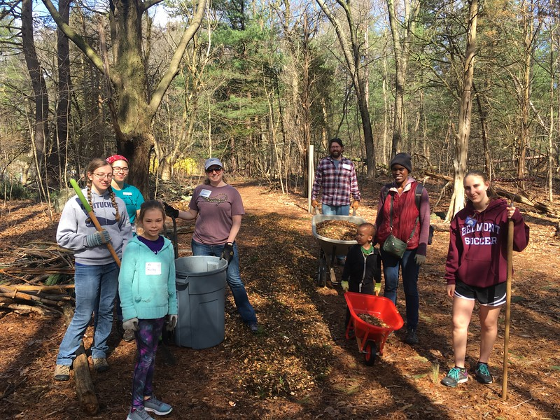 Winter has taken a toll on trails at Mass Audubon, and volunteers get them in good shape for summer visitors.