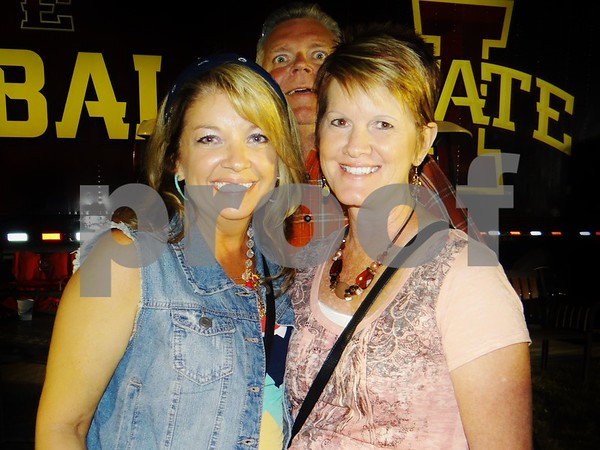 Anne Payne and Karen Little. Photo bombed  by Al Little.