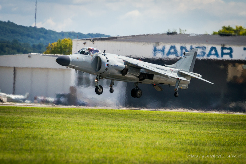 Going from a hover to a full vertical landing.