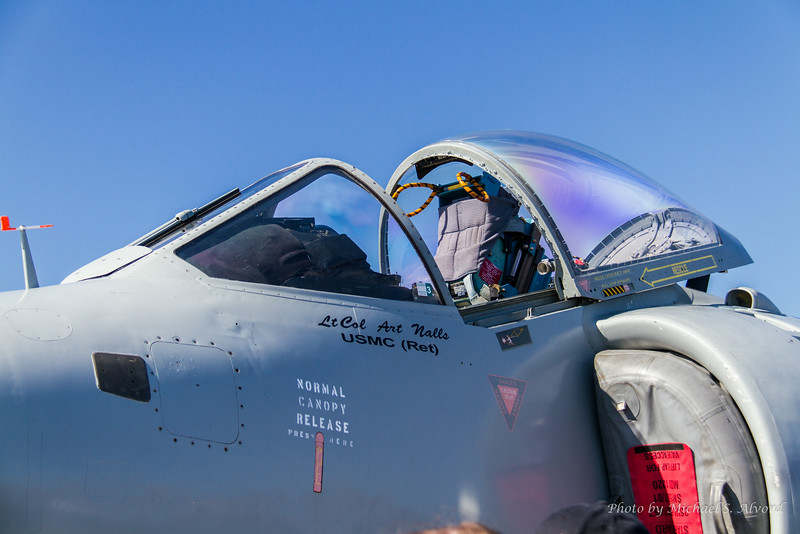 Lt. Col Art Nalls (Ret) owns the only private Sea Harrier Jet and gave a performance during the show.