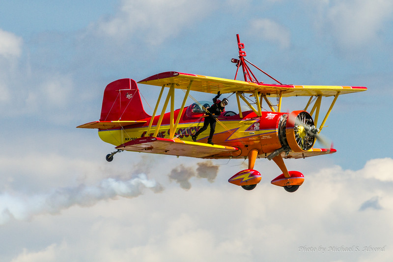 This is the team of Gene Soucy and his wing walking companion of Teresa Stokes.