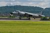 Art Nalls Sea Harrier performed a short field takeoff.