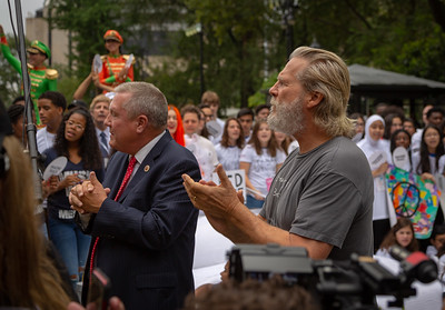 2018, City Hall, Come Together NYC, Daniel Dromm, Jeff Bridges, New York City, September 13