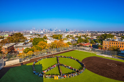 2016_10_17, Grover Cleveland High School, NY, Queens, Peace Sign