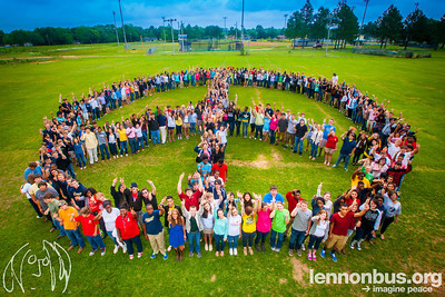 2014_05_09, Foley, Alabama, Foley High School, Human Peace Sign, Watermark