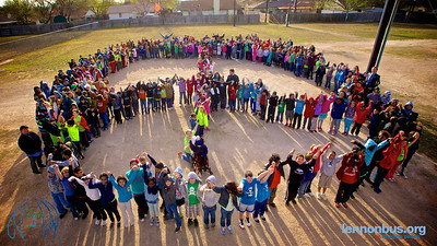 2013_03_05, Pfluggerville, Texas, Peace Sign Photo, Elementary School