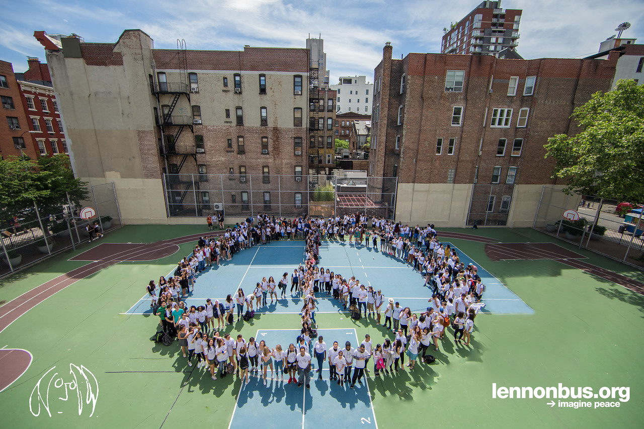 2017_06_09, CASA, Chelsea, Cultural After School Adventures, LAB, Lab Shool, New York, NY, NYC Lab School, Peace, Peace Sign, Human Peace Sign
