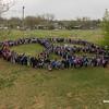 2017_03_28, Arthur Elementary School, human peace sign, OK, Oklahoma City, peace signs