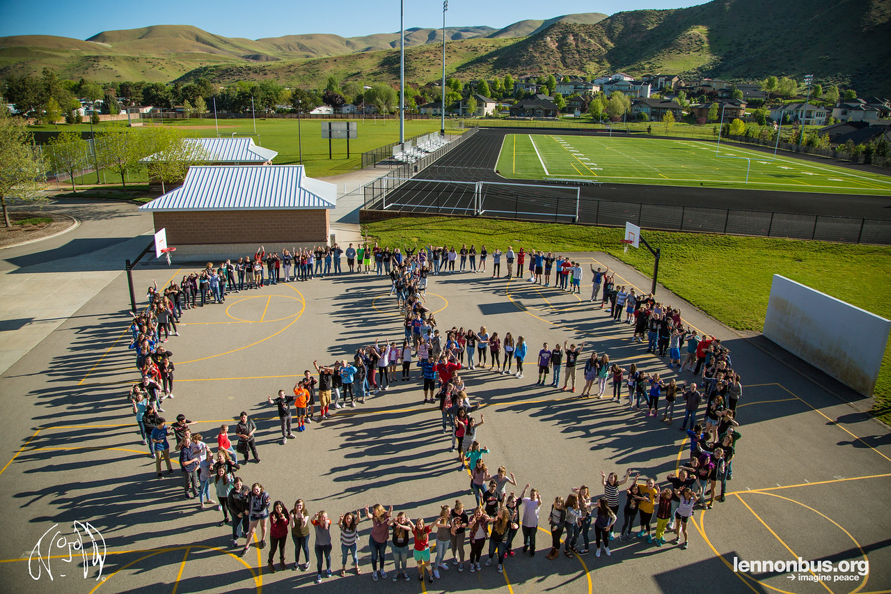2017_05_08, Boise, East Junior High School, ID, Peace Sign