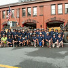Leominster Fire Fighters pose for a group photo before taking the ALS Challenge on Wednesday at the Leominster Fire Department. The event kicks off the department's MDA drive.