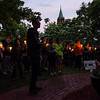 Guests gather during a vigil in remembrance of the Orlando shooting victims on Monday evening on the Fitchburg Upper Common. SENTINEL & ENTERPRISE / Ashley Green