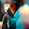 Guests show their support during a vigil held on Fitchburg's Upper Common in remembrance of the Orlando shooting victims. SENTINEL & ENTERPRISE / Ashley Green
