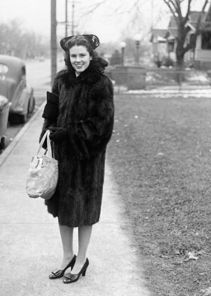 Mom circa 1945, what a doll