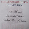 Leslie's induction into FDU Hall of Fame