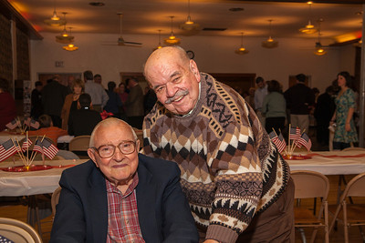 Patriot photos by Roxanne Richardson Jerry DeTurk, right, and Hoch were members for 60 years with the Patriotic Order Sons of American Lodge. Harold Althouse, left, met Hoch through the Grange. Althouse was master at that time and Hoch was treasurer.
