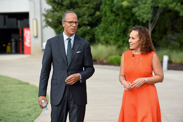 NBC Nightly News Anchor Lester Holt visits Atlanta and meets with community leaders and Girl Scouts at the Center for Civil and Human Rights.