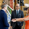 NBC Nightly News Anchor Lester Holt visits the Civil and Human Rights Museum to meet community leaders and the Girl Scouts.