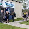 Visit of Ontario Lieutenant Governor Elizabeth Dowdeswell to Moosonee 2018 August 14. - arrival at Town offices.