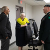 Visit of Ontario Lieutenant Governor Elizabeth Dowdeswell to Moosonee 2018 August 14. with Moosonee Mayor Wayne Taipale and aide de camp.