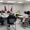 Visit of Ontario Lieutenant Governor Elizabeth Dowdeswell to Moosonee 2018 August 14. - discussion in the Town Council Chamber.