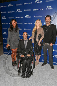 "MARINA DEL REY, CA - NOVEMBER 10:  (2L-R) Life Rolls On founder Jesse Billauer, Leah Felder and Brandon Jenner arrive at the Life Rolls On foundation's 9th annual ""Night by the Ocean"" gala at Ritz Carlton Hotel on November 10, 2012 in Marina del Rey, California.  (Photo by Chelsea Lauren/WireImage)"