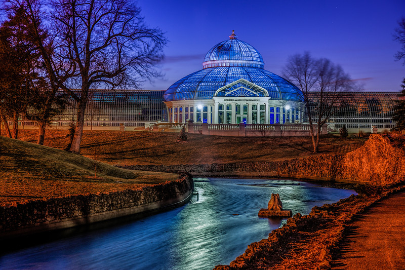 Light It Up Blue, World Autism Awareness Day 2015, Blue Majorie McNeely Conservatory