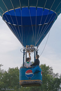 Newly wed's first balloon ride together