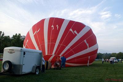 Ameristar team blowing cool air into their Balloon