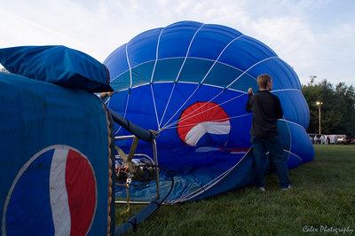 Pepsi Team inflating theirs with Cool Air