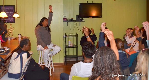 AcTah (Mayan shaman) speaking at Lighting Up Charlotte