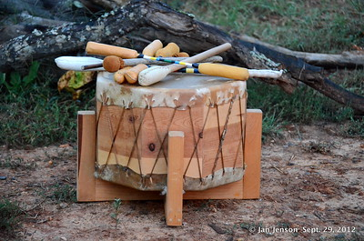 Full moon DRUMMING at Larkspur Ranch in S.C.