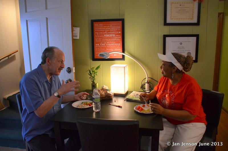 ??? and Dr. Samara Mohassen enjoying a quiet meal.
