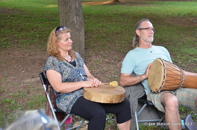 drum circle led by Charlene Hoover