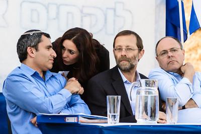 Zeev Elkin, Miri Regev, Moshe Feiglin, Dani Dayan