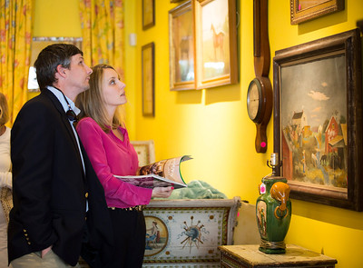 Photo: Jacek Gancarz. Caption: Friday, February 21, 2014 - Will and Leslie Bannister of Fort Worth, Texas, examine merchandise in the showroom of Leslie Hindman Auctioneers in West Palm Beach, Fla. during a preview of property from the estate of Lilly Pulitzer of Palm Beach, Fla. Leslie Bannister is an interior decorator and she flew in from Fort Worth with her husband for the sale on Saturday, February 22, 2014.