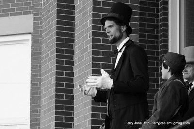 Lincoln in Quincy bw